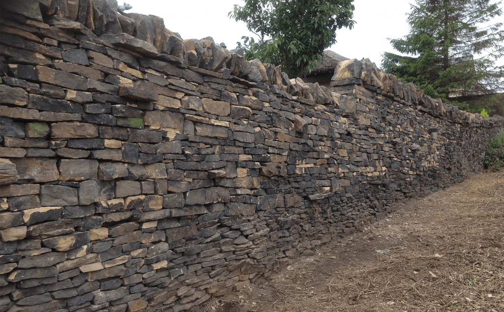 Queensbury - Completed sry stone walling project