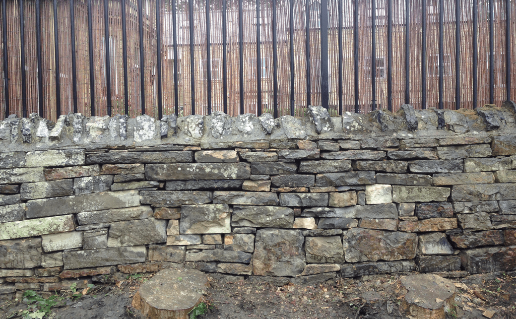 Completed gap walling