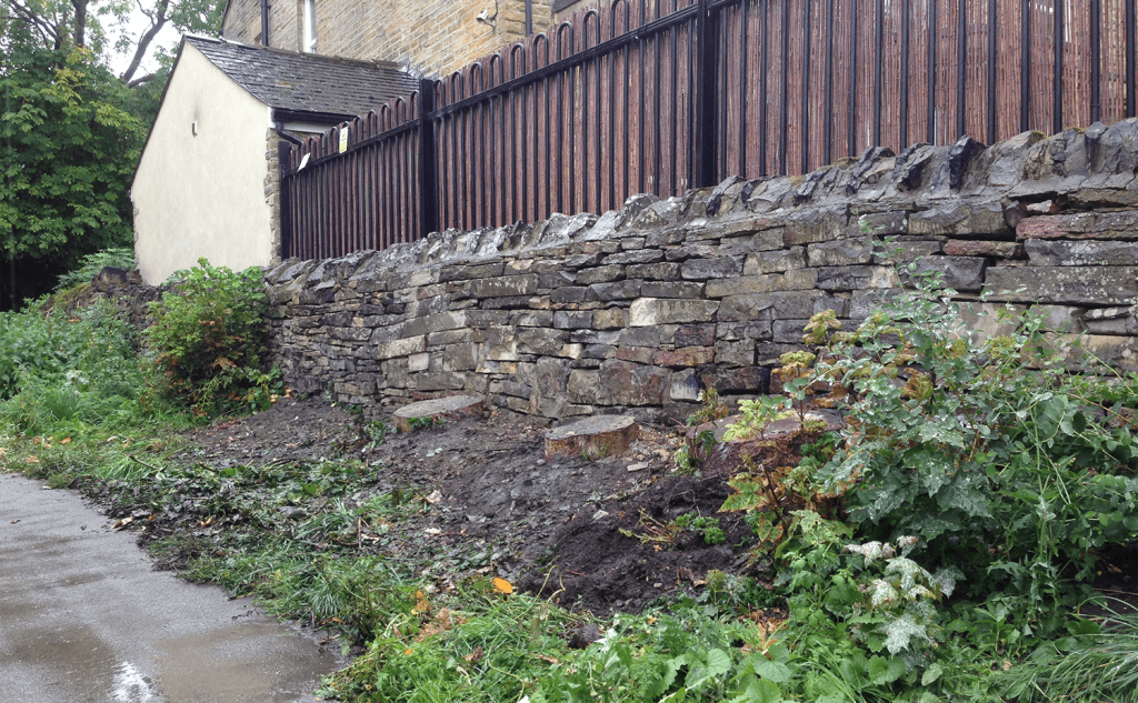 Now improved wall after gaps repaired