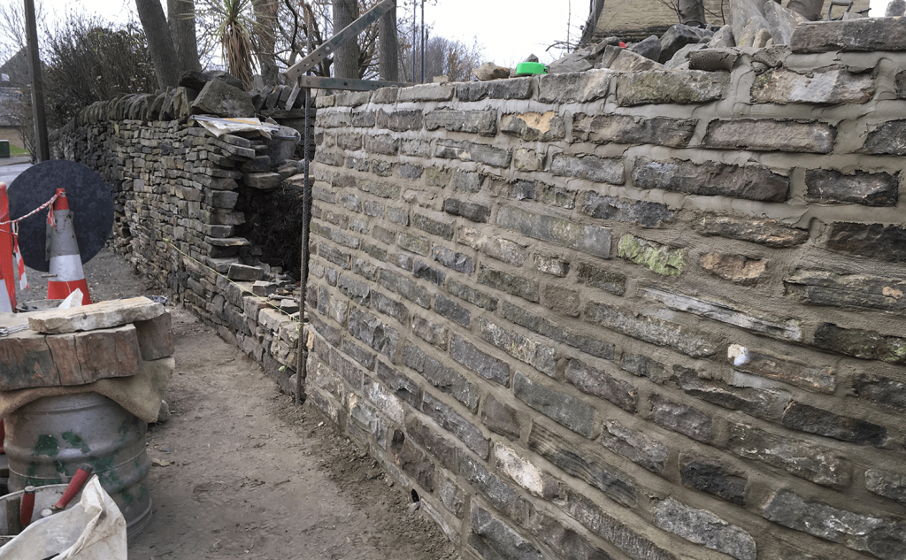 Using best stone for mortared section