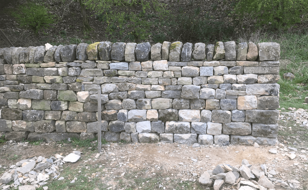 Traditional dry stone walling practice build