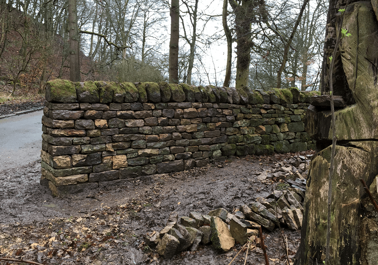 Dry stone walling in Otley
