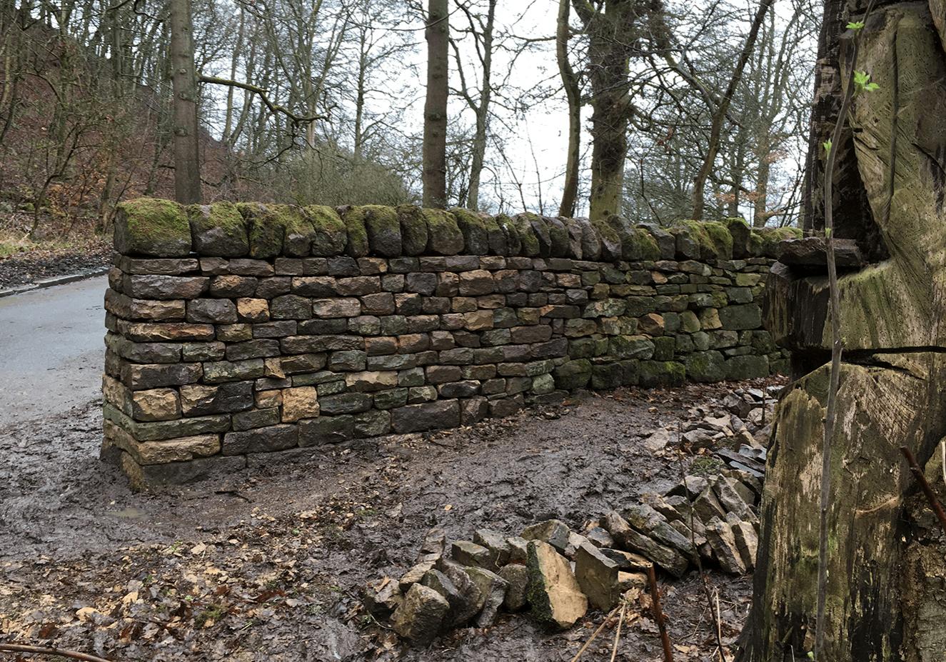 Dry stone walling in Otley