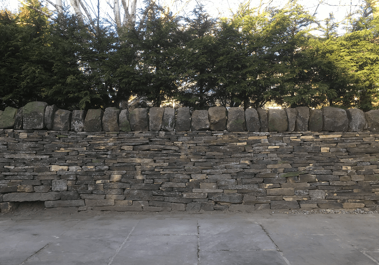 Dry stone walling rebuild project